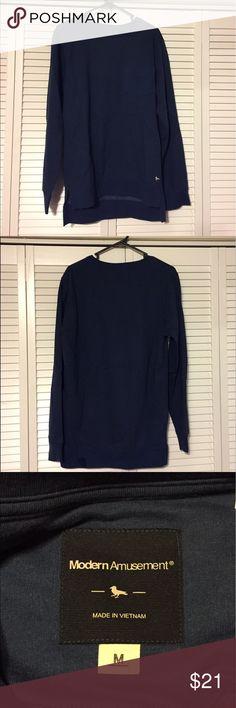 🔥MODERN AMUSEMENT🔥BLUE SWEATSHIRT MEN MEDIUM This Pacsun brand Modern Amusement sweatshirt is in perfect condition. Dark blue color. Men's medium. Modern Amusement Shirts Sweatshirts & Hoodies