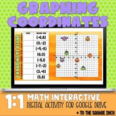 Halloween Coordinate Plane Practice for Distance Learning | TpT Line Diagram, Rational Numbers, Halloween Cans, Plane, Distance, Teaching, Activities, Education, Math