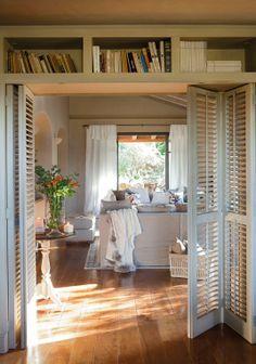 bi-fold louvre doors & books
