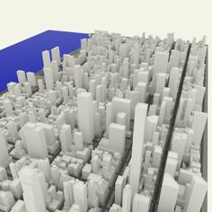 NYC Midtown Manhattan East 3D Model .max .c4d .obj .3ds .fbx .lwo .stl @3DExport.com by jecls Free Nyc, Uv Mapping, 3d Architecture, 3d Projects, 3d Animation, Manhattan, Fountain, Exterior, Model