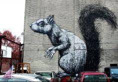 street art, ROA, Williamsburg Brooklyn