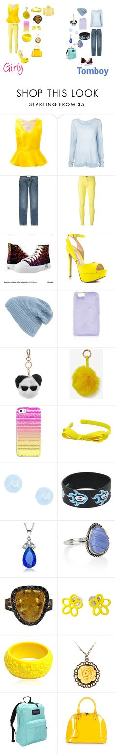 """Girly vs. Tomboy"" by sierra-ivy on Polyvore featuring Ingie Paris, Frame Denim, dVb Victoria Beckham, 7 For All Mankind, ALDO, Phase 3, Topshop, Karl Lagerfeld, Nila Anthony and Casetify"