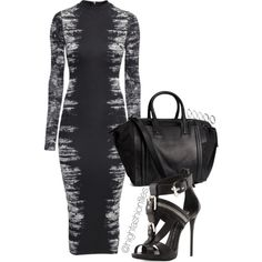 A fashion look from October 2014 featuring H&M dresses, Giuseppe Zanotti sandals and H&M handbags. Browse and shop related looks.