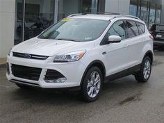 New 2014 Ford Escape Titanium (White SUV)   Charleston