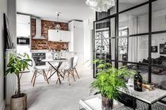 43m2 de constrastes con ladrillo visto y una galería. – Interiores Chic.blog de decoración http://interioreschic.com/43m2-de-constrastes-con-ladrillo-visto-y-una-galeria/ #decoracion