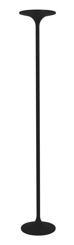 Lámpara de pie de LED negra regulable #iluminacion #pies #decoracion #lamparas #interiorismo #diseño