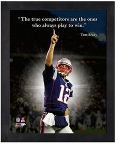 "Tom Brady New England Patriots 11"" x 1 4"" Framed ""Pro Quotes"""