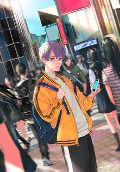 He looks like a sassy boy who acts a bit tsundere around the MC, but begins to soften when he has to reveal his insecurities to her in a crucial moment Anime Boys, Manga Anime, Gato Anime, Hot Anime Boy, Manga Boy, Cute Anime Guys, Anime Art Girl, Bts Art, Days Manga