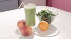 Cindy's back with another great blended recipe: the Green Peace Splash! All you need is orange juice, a couple peaches, and some spinach to blend up this great drink. Did you know that spinach is …