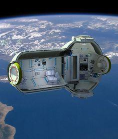 space station hotel design