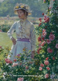 """Painting of the Day (AVAILABLE - NEW!!) Gregory Frank Harris's """"Morning in the Garden"""" - http://rehs.com/blog/2015/05/painting-of-the-day-available-new-gregory-frank-harriss-morning-in-the-garden/"""