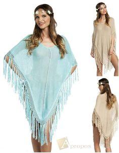 Strandkleid Sarong Strandtuch Pareo Kimono OS 34- 42  Longtop Häkel Apropos