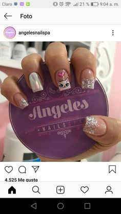 Hot Nails, Swag Nails, Hello Nails, Nail Art Designs Videos, Animal Nail Art, Nail Art For Beginners, Nails For Kids, Black Nail Designs, Diamond Nails