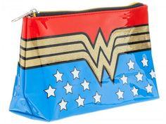 Wonder Woman Logo Make Up Bag - Wonder Woman Apparel & Accessories