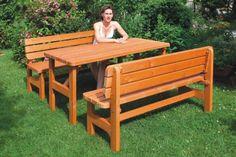 4990 Kc Zahradní souprava - 1 x stůl + 2 x lavice