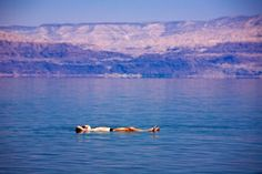 Dead Sea, Israel / Jordan.  Feels slimy to the touch when floating in it.  There back in 1974.
