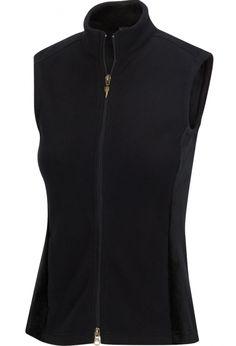Greg Norman Ladies & Plus Size Full Zip Fleece Sleeveless Golf Vests - ESSENTIALS (Assorted Colors)