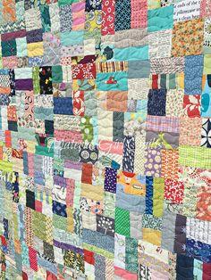 Scraptastic quilting (Scrap Vortex Quilt) by Amanda Castor of Material Girl Quilts