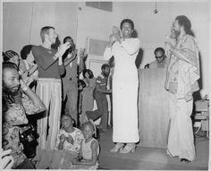 Maya Angelou and Cecil Williams at Glide Memorial Church, San Francisco, Sunday, July 14, 1974