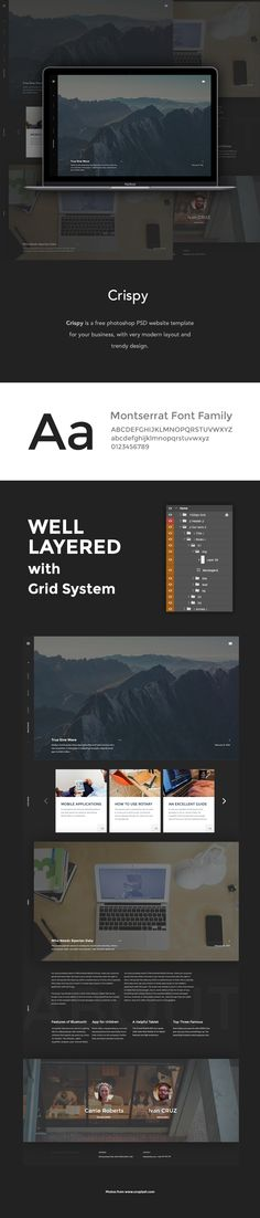 Free PSD Template. Cool and modern.