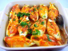 Les Petits Chefs make Rose Reisman's healthy jumbo pasta shells with three cheeses | eat. live. travel. write.