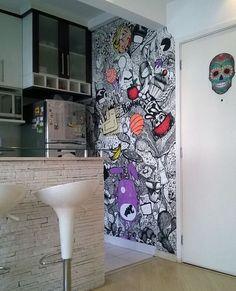 É o grafite chegou á cozinha! ⭐️ #casademenino #tips #dicas  #instadesign #decor #diy #design #style #details #interior #ideas #instadecor #decoracao #decortips #decor #arquitetura #architecture #furniture #home #homedecor #homestyle #homedesign #homeideas #lovedecor