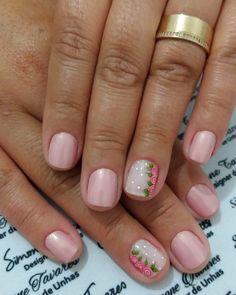 100 Fotos de Unhas decoradas Românticas Manicure Y Pedicure, Pretty Nail Art, Flower Nails, Nail Art Designs, My Nails, Inspiration, English Vocabulary, Ideas Para, Pretty Nails