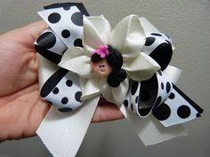 tutorial moños y flores en cinta faciles para el cabello paso a paso. Manualidades la hormiga - YouTube