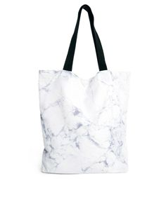 marble-ized shopping tote