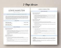This Professional resume template is just what you need to freshen up that old resume! Creative and Sophisticated while still being professional. Cv Simple, Modern Cv Template, Creative Cv, Resume Writing Tips, Cv Design, Any Job, Cover Letter Template, Professional Resume, The Help