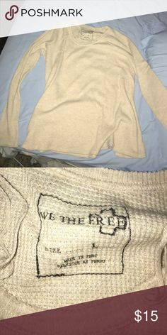 Free people waffle shirt Great condition! Very warm for the upcoming winter months :) great condition Free People Tops Camisoles