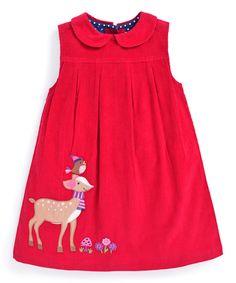 Look at this #zulilyfind! JoJo Maman Bébé Deer Appliqué Pinafore Dress - Infant, Toddler & Girls by JoJo Maman Bébé #zulilyfinds