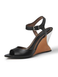 MARNI - leather open toe wedge heel sandals