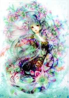 Fairyish Alice and Wonderlandish anime girl.