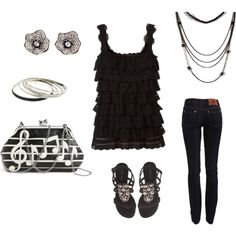 Casual Sparkle, created by divalead on Polyvore