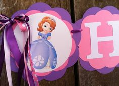 Sofia the first birthday Banner Sophia the first birthday banner Sofia birthday party Sophia birthday party by MerryMakersPapier on Etsy https://www.etsy.com/listing/154952497/sofia-the-first-birthday-banner-sophia