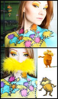 Lorax, Dr. Seuss #cosplay #makeup | http://madeulookbylex.deviantart.com/gallery/44758726