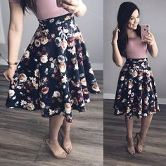 Modest Wear Floral Skirt