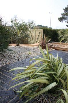Terrasse bois terrasse pierre | Arbor Minéral Vannes Morbihan Plants, Wooden Terrace, Landscape Planner, Stones, Plant, Planets