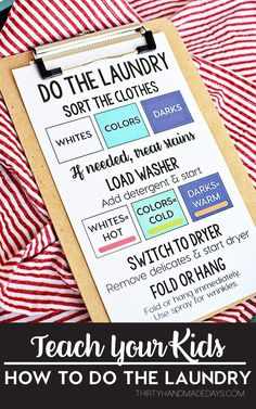 How to Teach Your Child to Read - Teach Your Kids How to Do the Laundry! This will help with getting back into the swing of things with back to school. Give Your Child a Head Start, and.Pave the Way for a Bright, Successful Future. Chores For Kids, Activities For Kids, Chore Charts For Older Kids, Children Chores, Family Chore Charts, Parenting Advice, Kids And Parenting, Mom Advice, Single Parenting
