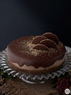 Jaleo en la Cocina: Cheesecake de chocolate (ganache y polvo de galletas)