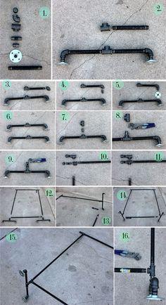 DIY - Arara de roupas com tubos e conexões - limaonagua