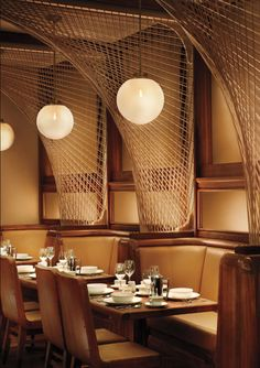 Forty Four restaurant at the Royalton Hotel in NYC designed by Roman and Williams