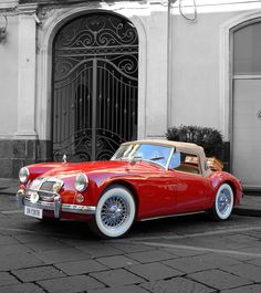 MG MGA - Coppa Natale - Giarre sport cars sports cars cars vs lamborghini Classic Sports Cars, Luxury Sports Cars, British Sports Cars, Sport Cars, Classic Cars, Classic Style, Retro Cars, Vintage Cars, Antique Cars