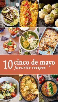 10 Favorite Cinco de Mayo Recipes via @beckygallhardin