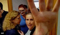 Debbie Wasserman Schultz staffer knocks camera away from Tim Canova staffer at Democratic Party Function
