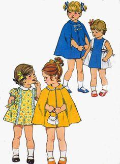 Vintage 70s Sewing Pattern Simplicity 5478 Toddlers par sandritocat