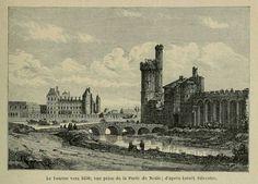 Le Louvre, vue de la Porte de Nesle. 1630.: