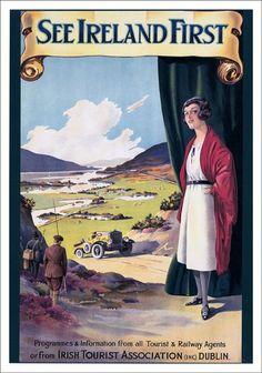 Vintage Ireland Tourism Posters - circa 1920s