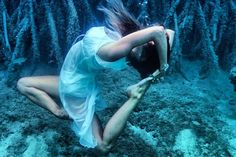 "Mermaid Yoga: Incredible, Underwater Instagram Photos #refinery29  http://www.refinery29.com/underwater-yoga-instagram#slide2  It doesn't get more beautiful than this: performing the ""mermaid pose"" while underwater."